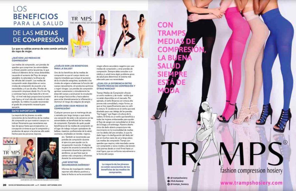 Intrend magazine; TRAMPS Fashion Compression Hosiery